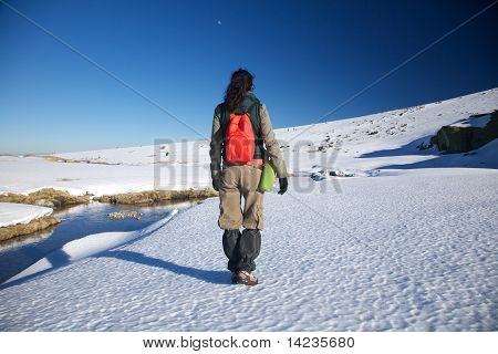 Winter Hiking Woman