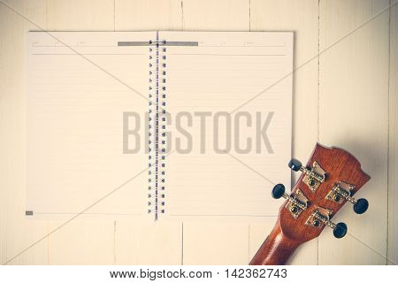 Guitar on a Blank book Songwriting Vintage tone