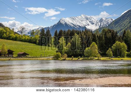 Quiet Lake In The Alps
