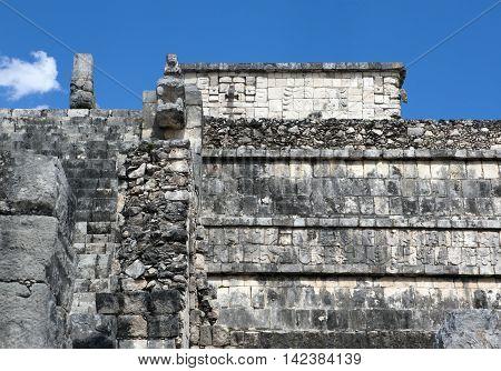 Ancient Temple ruins in Chichen Itza, Mexico