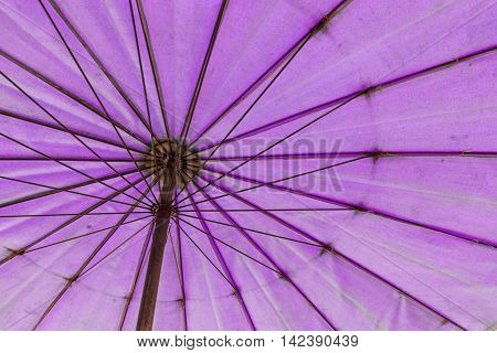 The Bottom To Top View Of Pink Umbrella
