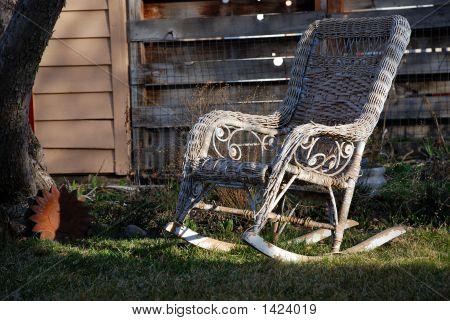 Wicker Lawn Chair