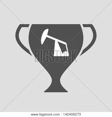 Isolated Award Cup Icon With A Horsehead Pump