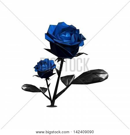 Beautifull Blue Rose Illustration  For Business Company And Background Template