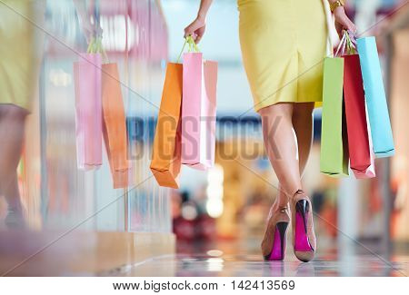 Female In The Mall