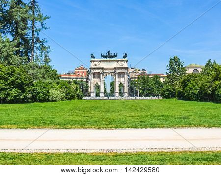 Arco Della Pace, Milan Hdr
