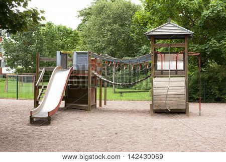 Children's Playground With Slide, Climbing Frame And Rocking