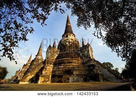 World heritage of Thailand look so beautiful in the evening.