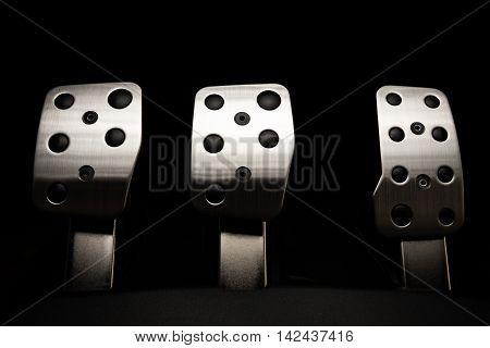Car Pedal  chrome pedals high quality studio shot