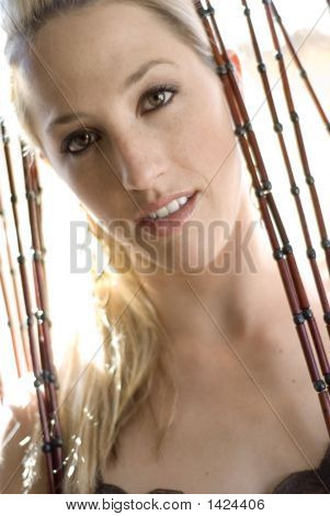 Attractive Young Woman In Fashion Pose