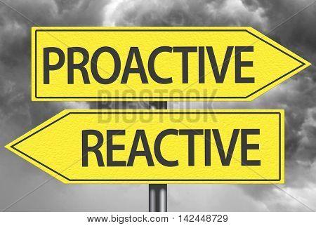 Proactive x Reactive yellow sign