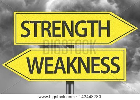 Strength x Weakness yellow