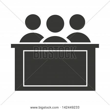 jury group isolated icon vector illustration design