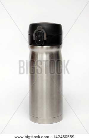 Thermos travel tumbler isolated on white background