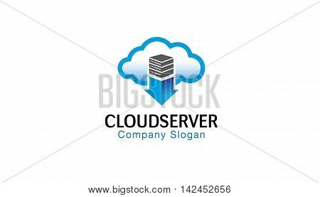 Cloud Server Logo Symbolic Creative Design Illustration