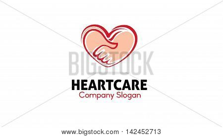 Heart Care Logo Creative Symbolic Design Illustration