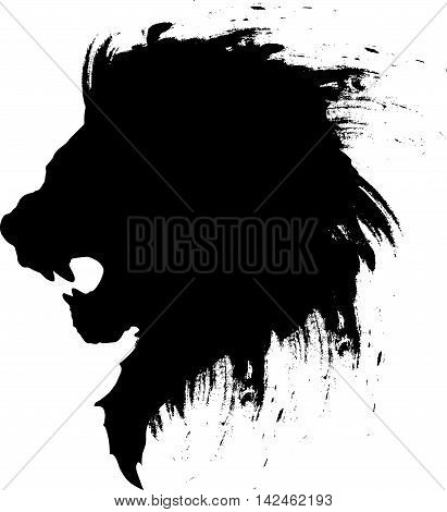 this is a simple tattoo lion head