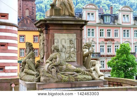 HEIDELBERG, GERMANY - MAY 28, 2015: The monument of