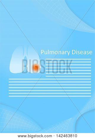 illustration on the theme of medicine - the pulmonary disease.