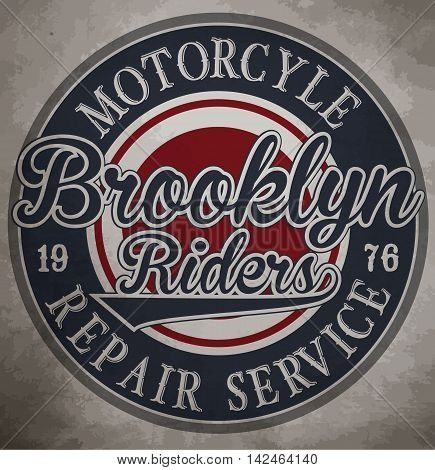 motorcycle. Custom motorcycle label. vintage motorcycle print. Logos and design elements.