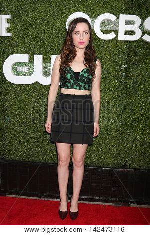 LOS ANGELES - AUG 10:  Zoe Lister-Jones at the CBS, CW, Showtime Summer 2016 TCA Party at the Pacific Design Center on August 10, 2016 in West Hollywood, CA