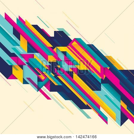 Technology abstraction with geometric composition. Vector illustration.