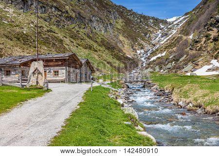 Alpine Hut In South Tyrol