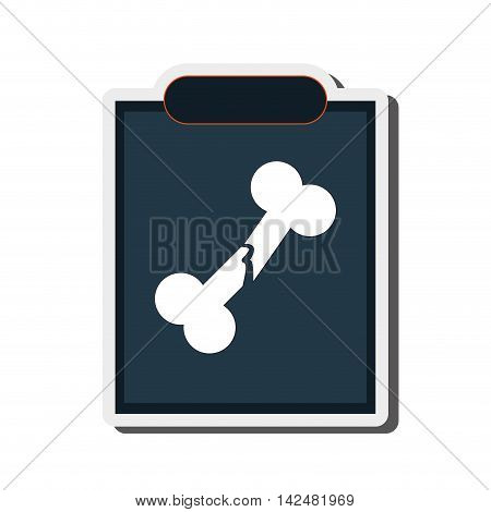 flat design single x-ray icon vector illustration