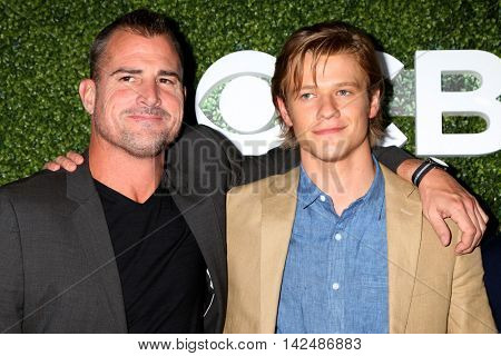 LOS ANGELES - AUG 10:  George Eads, Lucas Till at the CBS, CW, Showtime Summer 2016 TCA Party at the Pacific Design Center on August 10, 2016 in West Hollywood, CA