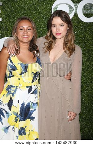 LOS ANGELES - AUG 10:  Mary-Charles Jones, Taylor Spreitler at the CBS, CW, Showtime Summer 2016 TCA Party at the Pacific Design Center on August 10, 2016 in West Hollywood, CA
