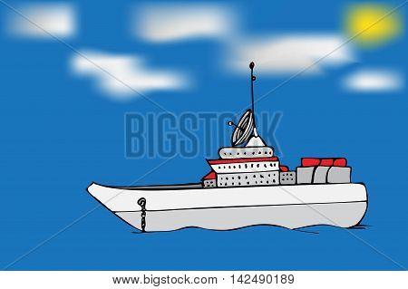 Navy Warship Image.