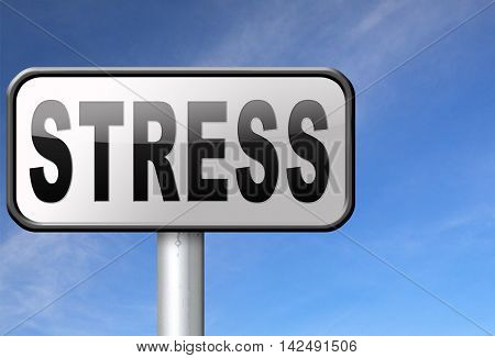 Stress disorder from acute work pressure is a factor triggering a panic attack bad mental health. 3D illustration
