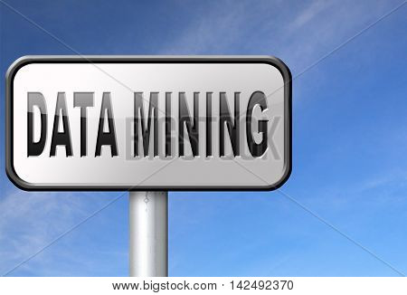 data mining analysis and search big data for specific information and statistics