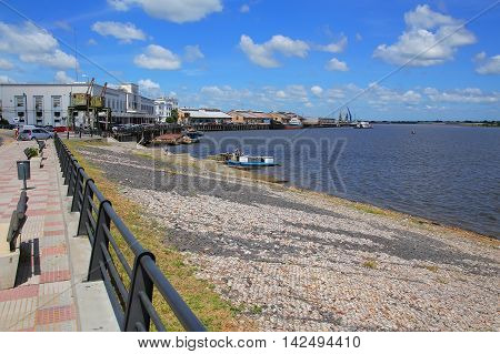 Port On The Paraguay River In Asuncion, Paraguay