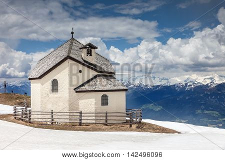 Chapel On The Kronplatz  Above Brunico, South Tyrol
