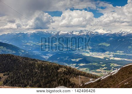 Pustertal View From Kronplatz In South Tyrol
