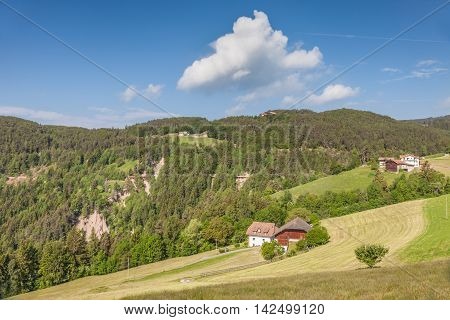 Mountain Farms In Mittelberg / Ritten