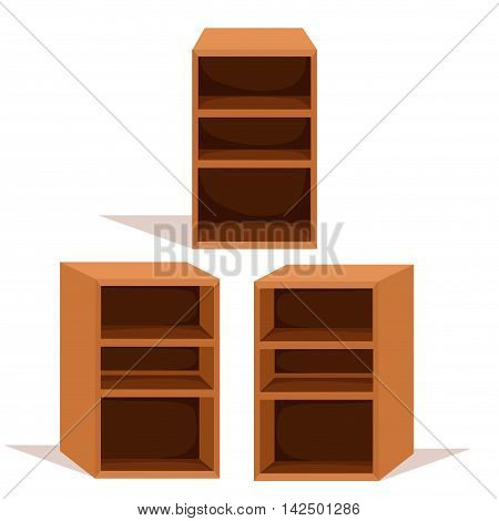 Illustrator of bookcase for bookstore and home