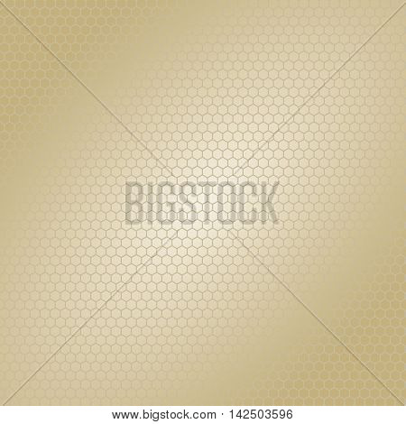 Golden brown hexagon Bee hive shaped background