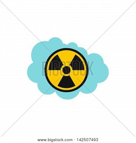 Radioactive air icon in flat style isolated on white background. Danger symbol