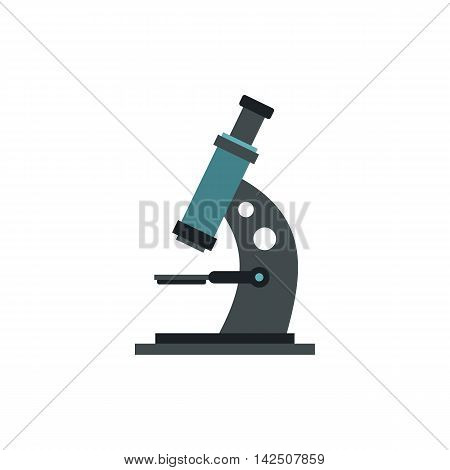 Microscope icon in flat style isolated on white background. Laboratory symbol