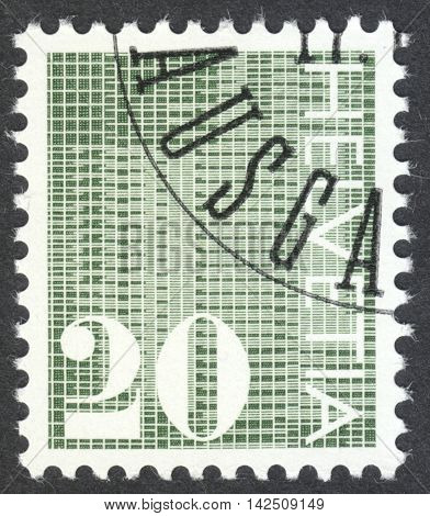 MOSCOW RUSSIA - CIRCA APRIL 2016: a post stamp printed in SWITZERLAND the series