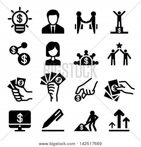 Business success icon set Vector illustration Vector illustration Graphic design