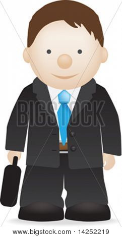 illustration of a work or business man in suit