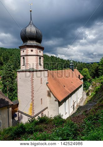 View on the baroque pilgrimage church Maria in der Tanne in summer.
