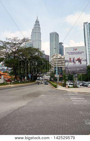 KUALA LUMPUR, MALAYSIA - CIRCA MAY, 2016: Kuala Lumpur in the daytime. Kuala Lumpur is the national capital and most populous global city of Malaysia.