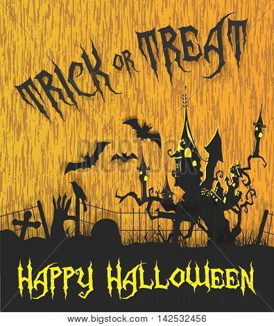 Vector Halloween Haunted Maison Background, Trick or Treat celebrating for Happy Halloween