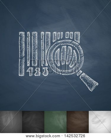 barcode icon. Hand drawn vector illustration. Chalkboard Design