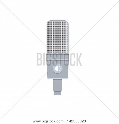 Vector Illustration in Flat Style of a Studio Condenser Microphone