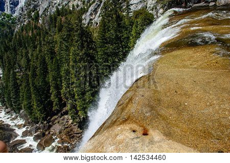 Yosemite Cliff Waterfall